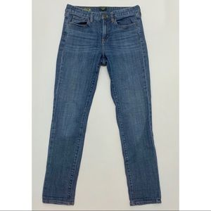 J. Crew Toothpick Skinny Jeans Medium Wash 28 Blue